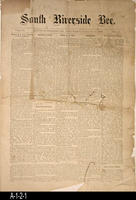 Newspaper - 1892 - South Riverside Bee - Area News and Classified Ads - Vol....