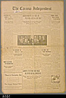 Newspaper - 1913 - The Corona Independent - Local news, ads, and personals.