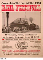 Poster - 1991 Fall Festival Orange Empire Railway Museum
