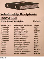 Poster - Scholarship Recipients 1997-1998