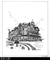 Pen and Ink Drawing - Hotel Temescal - December