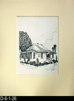 Pen and Ink Drawing - Matt Mounted - Settlement House - November