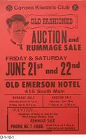 Poster - Corona Kiwanis Club - Auction and Rummage Sale