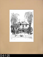 Pen and Ink Drawing - Matt Mounted - Ramona and Grand Boulevard Home - August...