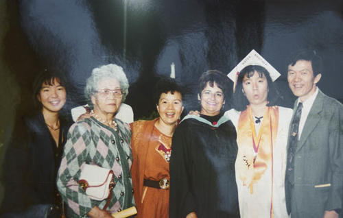 Graduation picture of a member of the Wong family.
