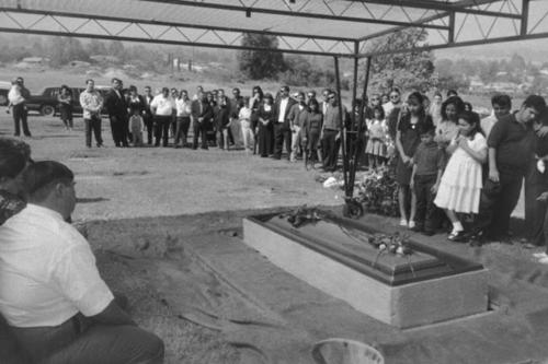 Louie Mendoza's funeral in 1994.