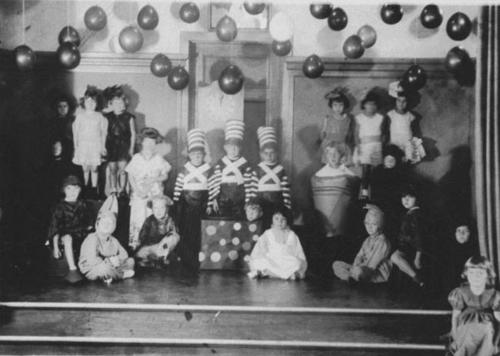 Jefferson School class play on the school stage.