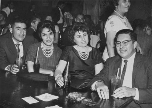 LULAC party. (left to right) Tito and Lola Varela, Erlinda and Reynaldo Aparicio.