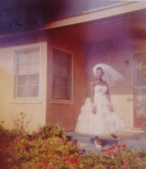 Mabel Moore Turner on her wedding day, 1956 in Los Angeles, CA.