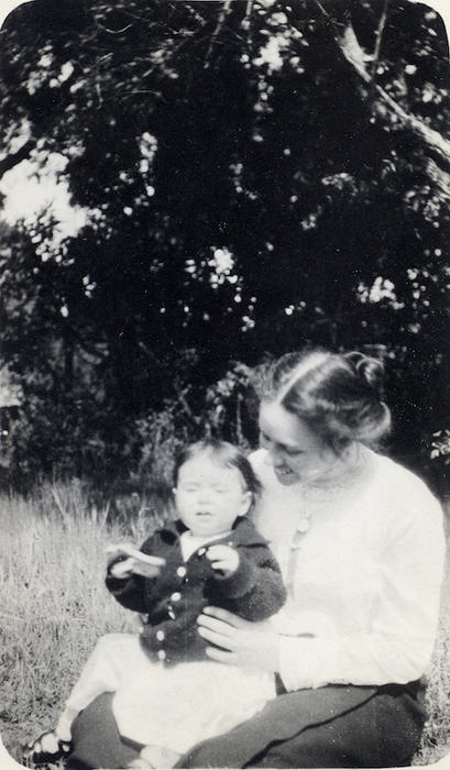 Eloise Jameson with someone's child c. 1913. From the collection of Bernice Jameson Todd.