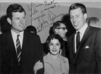 Frances Martinez and Ted Kennedy