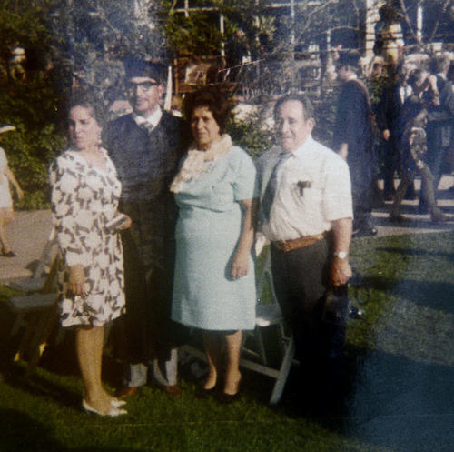 The graduation of Albert Varela. Pictured are his wife Velia and his mother Vicentia Varela and father Joseph Varela. Taken in June 1971.