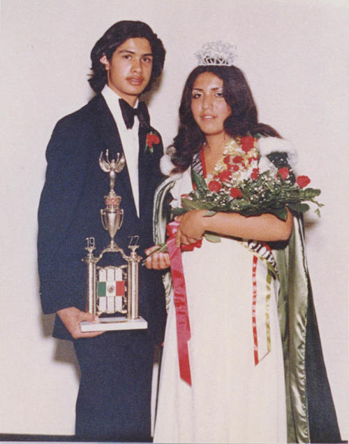 Elizabeth Navarro - Mexican Independence Day Queen - and Alfred Alcala.  Elizabeth on the right and Alfred on the right.