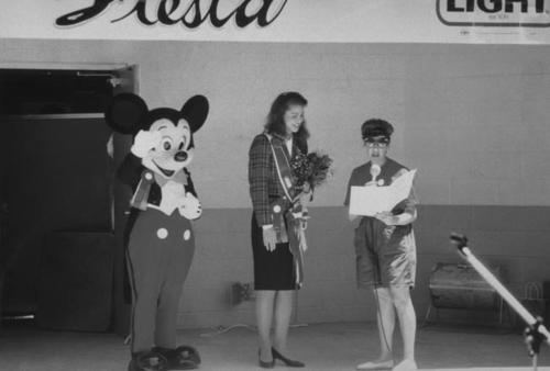 Mickey Mouse and Disneyland Ambassador Grand Marshals of Corona Cinco de Mayo parade in the mid 1980s.