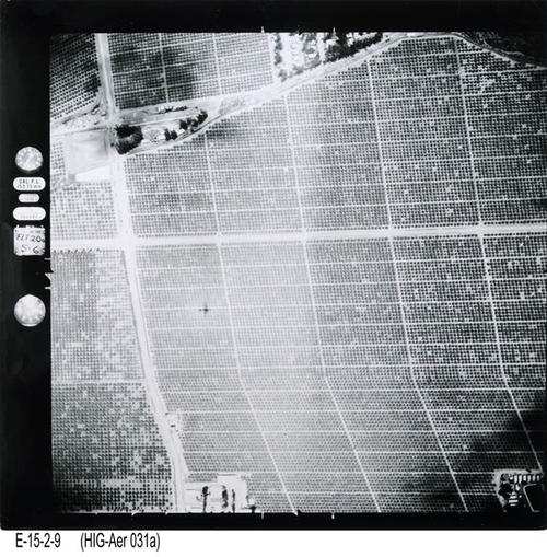 "This is an aerial view of Corona:  Main St. South of Chase Drive. - MEASUREMENTS:  10 1/4"" x 10 1/4"" - CONDITION:  This photo is in good condition. This photograph is in a protective sleeve. - COPIES:  1. - NEGATIVE INFORMATION:  # ON024"