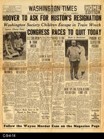 1930 - Washington Times - Hoover To Ask For Huston's Resignation