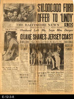 1927 - The Baltimore News - $10,000,000 Ford Offer to 'Lindy'