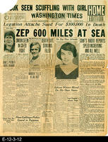 1929 - Zepplin Nears Spain