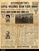 1930 - Capital Welcomes Ocean Fliers Monday