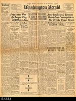 1932 - Washington Hearld - Lindbergh Baby Kidnapping
