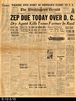 1929 - Zep Due Today Over D. C.
