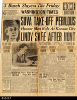 1928 - Front page article on Amelia Earhart - Friendship Hop Faces Delay