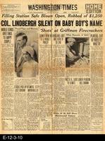 1930 - Washington Times - Col. Lindbergh Silent On Baby Boy's Name