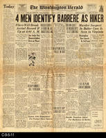1930 - The Washington Hearld - 4 Men Identify Barrere As Hiker