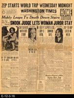 1929 -  Zep Starts World Trip Wednesday Midnight