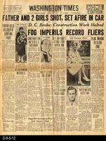 1930 - Washington Times - Father and 2 Girls Shot, Set Afire In Car