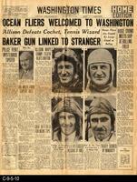 1930 - Ocean Fliers Welcomed To Washington