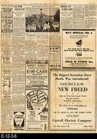 1929 - The Sunday Star, Washington D. C. - Charles A. Lindbergh Coverage
