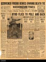 1929 - Washington Times - Byrd Flies To Pole and Back