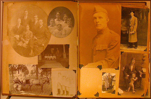 <Strong> Page 19 </Strong>  Top Left:  Dudley, Gordon, Max, Clifford and Brook Johnston;  Top Right:  Dudley, Gordon, Max, Clifford and Brook Johnston;  Middle:  The Johnstons: Dudley, Brook, Max, Clifford and their mother, pregnant with Gordon;  Lower Left:  The Johnstons: Dudley, Brook, Max, Clifford in carriage with horse; Dudley, Brook, Max and Clifford <Strong> Page 20 </Strong>  Top Left:  Dudley Johnston; John Johnston, son of Clifford;  Bottom Left:  Clifford and Estelle Johnston; John and Max (toddler) Johnston