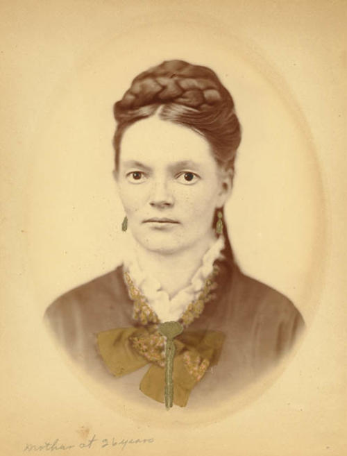 Portrait of Emma Mason Taylor at 26 years. Emma Mason Taylor was the wife of Corona founder R.B. Taylor.