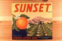 "Citrus label ""Sunset"" brand. - Corona Citrus Assn. - Corona, California"