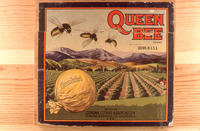 "Citrus label ""Queen Bee"" brand.  Sunkist"