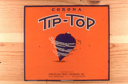 "This slide is of the ""Tip Top"" brand citrus label. Distributed by American Fruit Growers, Inc. - Los Angeles, California  SLIDE CONDITION:  Good."