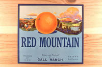 "Citrus label ""Red Mountains"" brand oranges - Call Ranch"