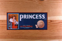 "Citrus label ""Princess"" brand - A. F. Call Estate - Corona"