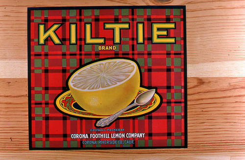 "This slide is of the ""Kiltie"" brand.  This product was grown and packed by the Corona Foothill Lemon Company -There is a picture of a grapefruit on the label. - Corona, Riverside Co.,  California. - SLIDE CONDITION:  Good."
