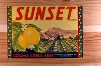 "Citrus label ""Sunset."" brand - Corona Citrus Assn. - Corona"