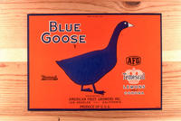 "Citrus label ""Blue Goose"" brand. - Distributed by American Fruit Growers, Inc...."