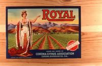 "Citrus label ""Royal"" brand.  Corona Citrus Association"