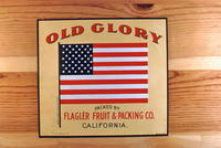 "Citrus label ""Old Glory"" brand - Flager Fruit and Packing Co. - California"