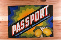 "Citrus label ""Passport"" brand - R. H. Verity, Sons and Co.  - Corona"