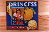 "Citrus label ""Princess"" brand - Call Ranch - Corona"