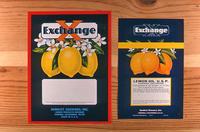 "Two Citrus labels ""Exchange"" brand - Sunkist Growers, Inc., Lemon Products Division..."