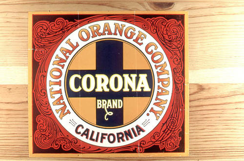 "This slide is of the ""Corona"" brand citrus label. National Orange Company - California. SLIDE CONDITION:  Good."