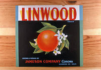 "Citrus label ""Linwood"" brand - Jameson Company - Corona"